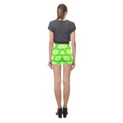 Crystal Push Legging Shorts in Limelight