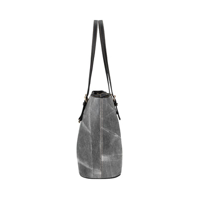 Gemstone Tote in Black Leather w/ Dragonglass