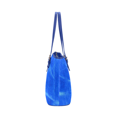 Gemstone Tote in Royal Leather w/ Lapis Lazuli