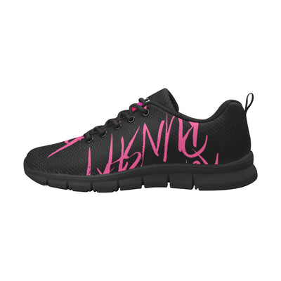 Runsh*t™ Savage Mode Scurry Sneaker in Black w/ Blushing Rose