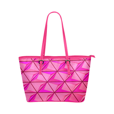 Crystal Mini Tote in Pink Leather w/ Blushing Rose
