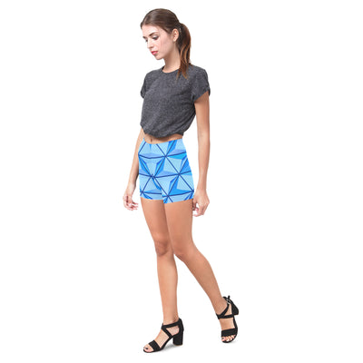 Crystal Push Legging Shorts in Carolina