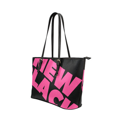 PITNB™ Signature Print Wrapper Mini Tote in Black Leather w/ Blushing Rose