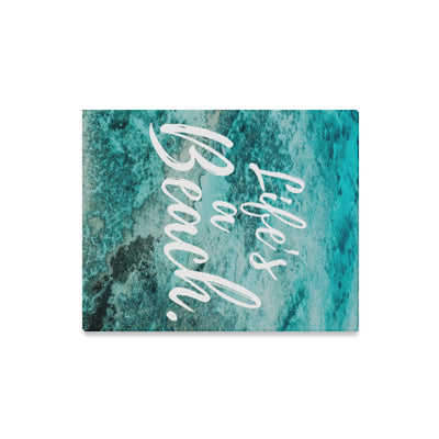 Life's a Beach™ Aqua Sands Premium Canvas Wrap Wall Art