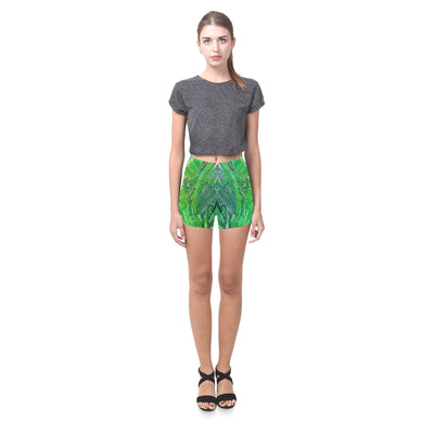 Picasso Push Legging Shorts in Emerald