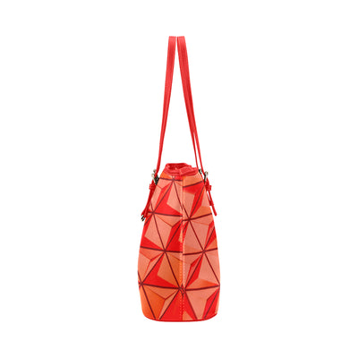 Crystal Tote in Red Leather w/ Piranha