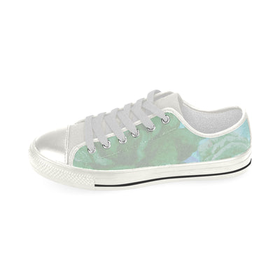 Saunter Low Top Canvas Sneaker in Mint Aquila
