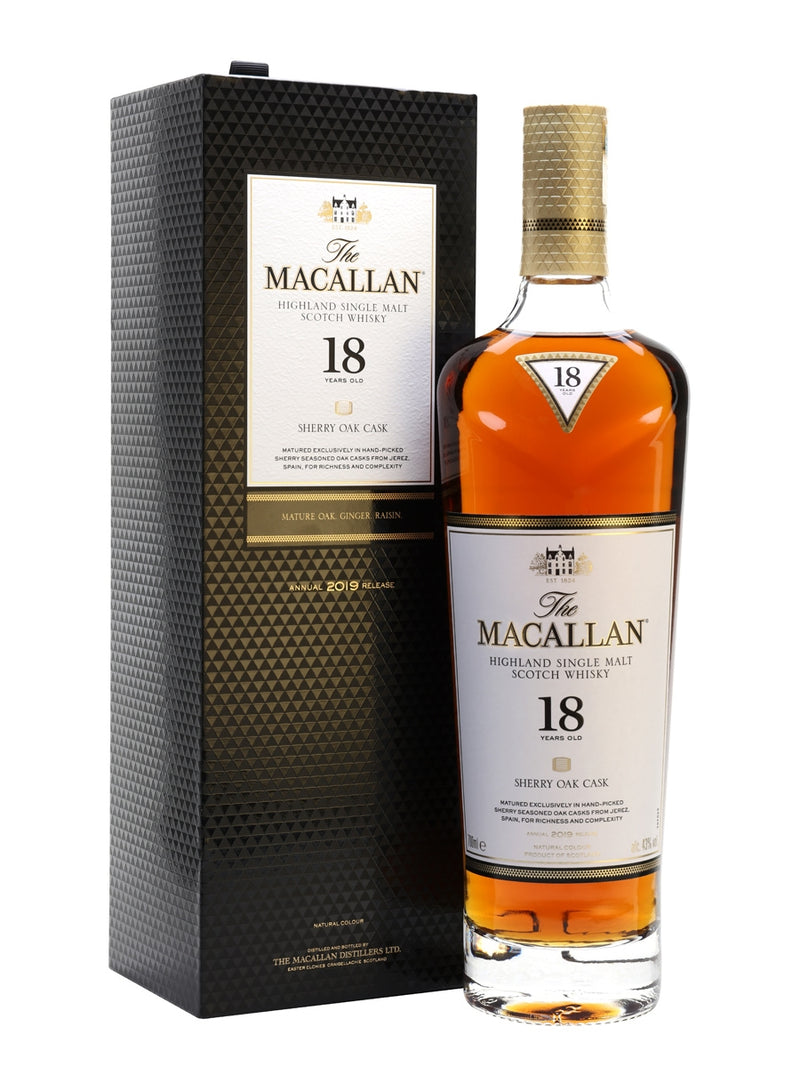 Macallan 18 Year Old Sherry Oak 700ml/43%
