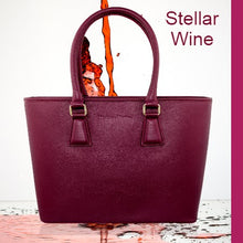 Load image into Gallery viewer, Classic MM Italian Leather Tote Bag - Wine