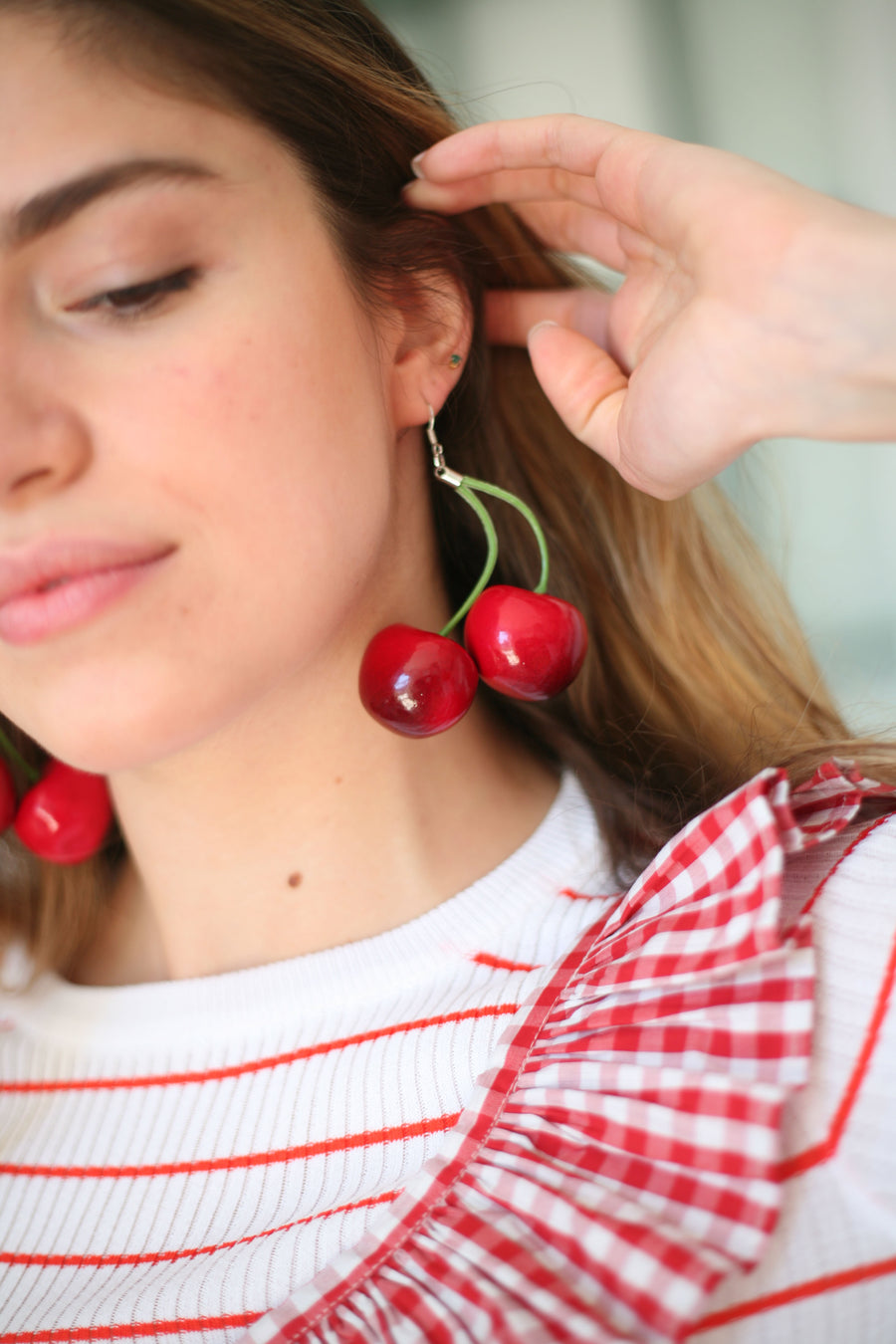 Maxi Cherry Earrings