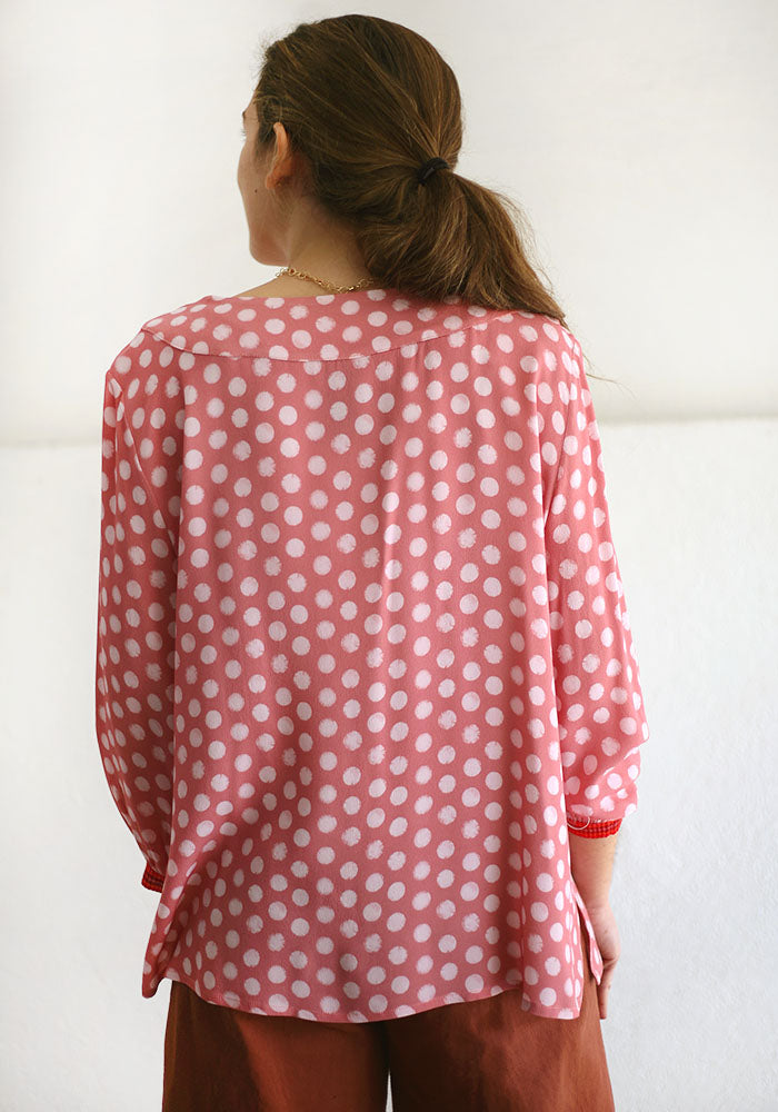 Pink Dots Blouse