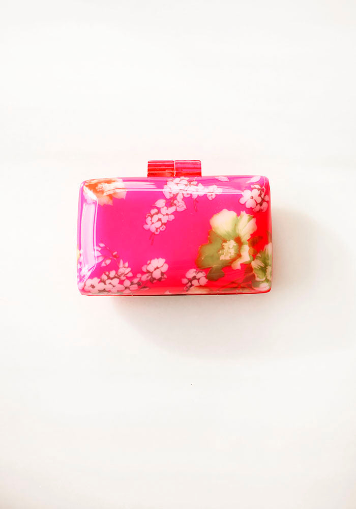 Pink Flowers Clutch