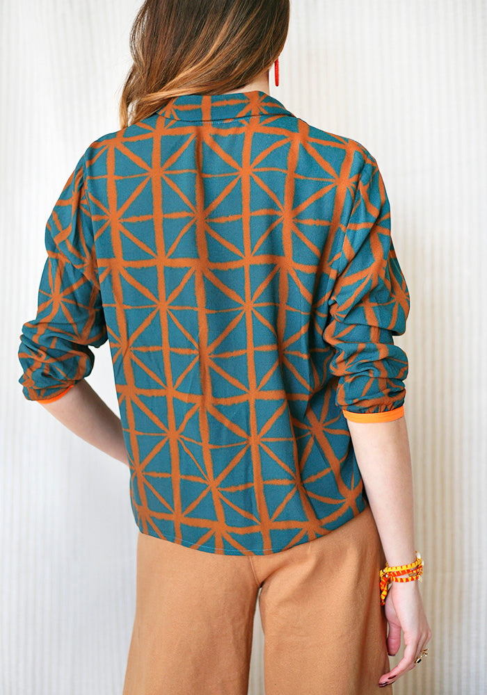Brown and Green Stellar Shirt