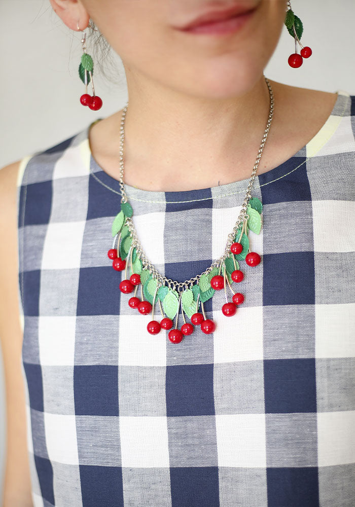 Collar Cerezas Colgantes