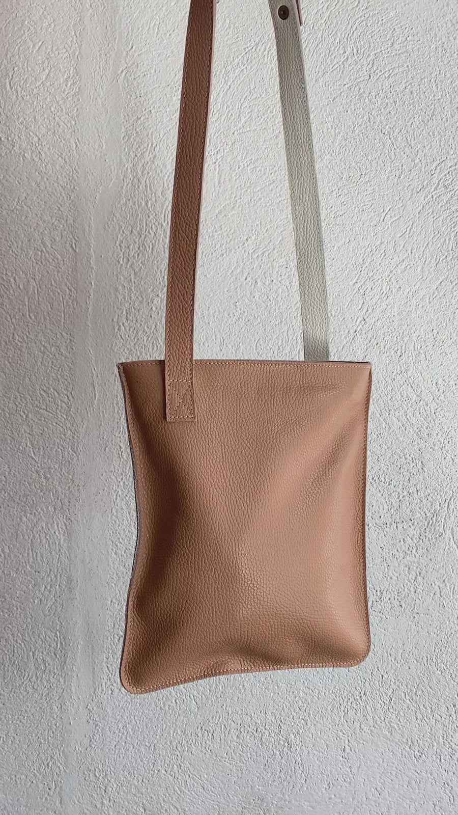Small Pink Bicolor Leather Bag