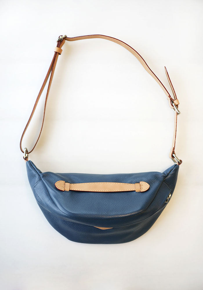 Blue Leather Belt Pouch