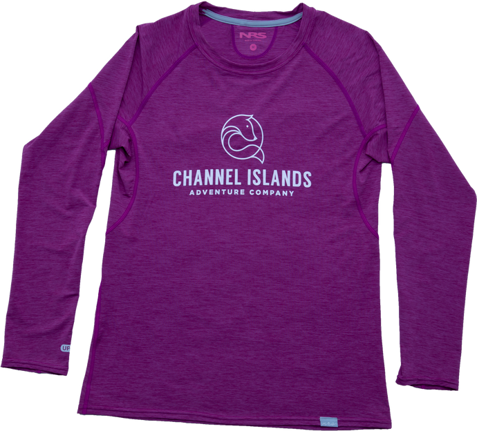 Women's Rash Guard - Channel Islands Adventure Co., Orchid