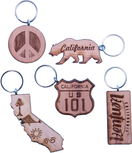Redwood Keychains