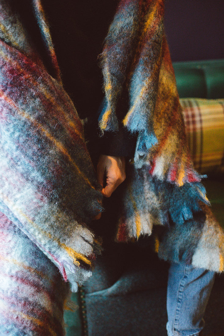 PLAID REDAMANCY MOHAIR