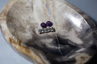 Dread Beads - Sage Sisters Apothecary - Amethyst and Tibetan Style Silver Dread Beads - sage-sisters-apothecary