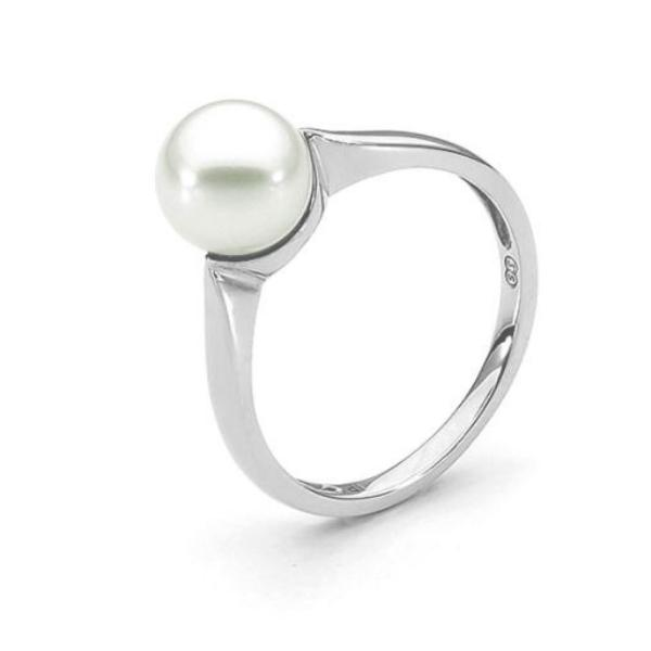 Pearl Ring 9ct White Gold