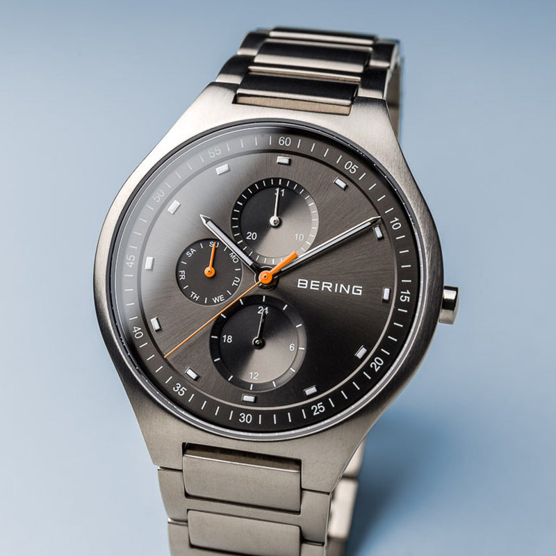 Bering Titanium Brushed Silver Link Watch