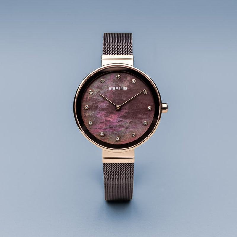 Bering Classic Rose Gold Mother of Pearl Watch