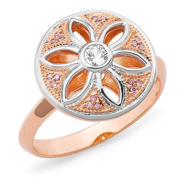 PINK CAVIAR 0.136ct Pink Diamond Set Ring in 9ct Rose Gold