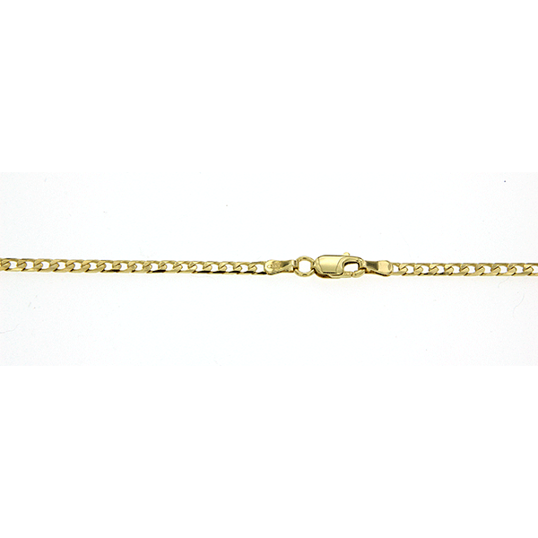 9Ct Yellow Gold Curb Chain 50Cm
