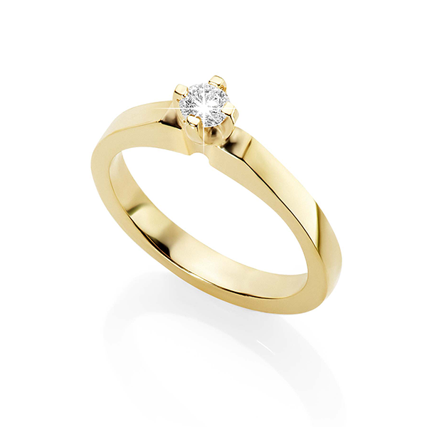 9Ct Yellow Gold 'First Diamond' Babies Ring