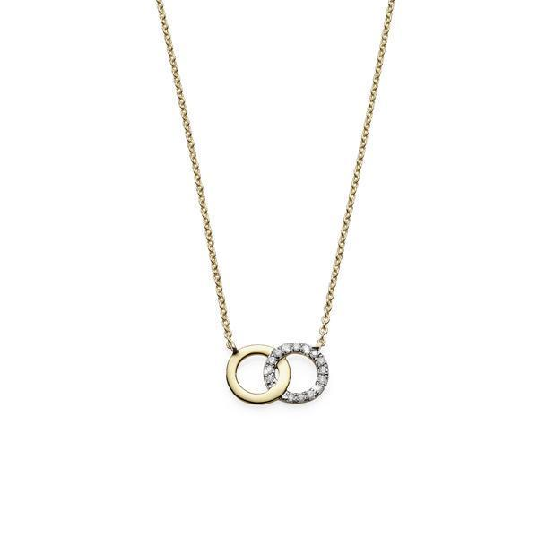 9Ct Yellow Gold Diamond Necklet on 45cm Chain