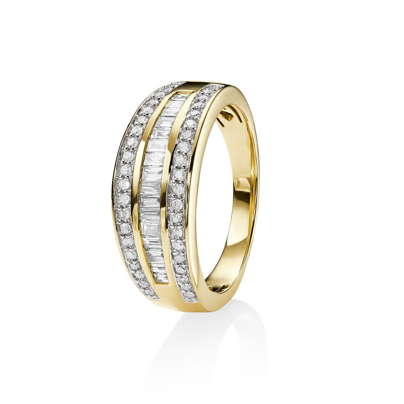 9Ct Yellow Gold 0.50Ct Diamond Ring
