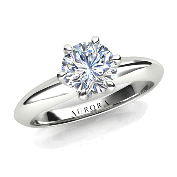 Aurora 18ct Gold F SI1 - One Carat Solitaire