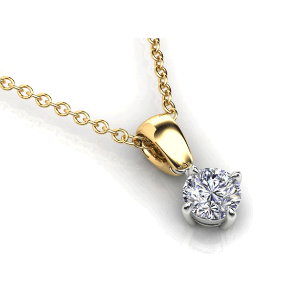 Aurora 18ct Gold G SI - 0.30ct Diamond Solitaire Pendant