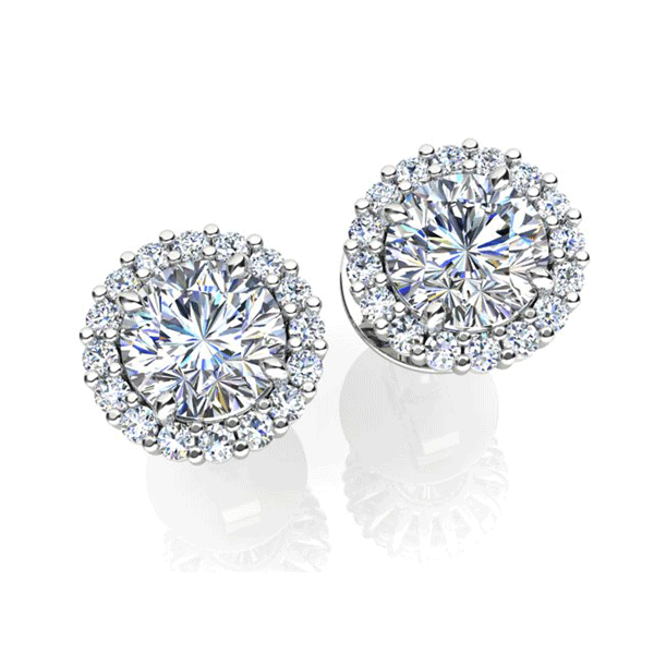 Aurora 18ct White Gold HI P1 - 0.75ct TDW Diamond Earrings