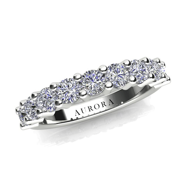 Aurora Platinum - G SI - One Carat Diamond Anniversary Ring