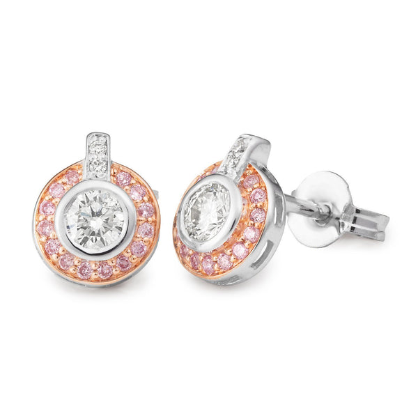 PINK CAVIAR 0.46ct Pink Diamond Earrings in 9ct Rose Gold