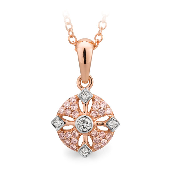 PINK CAVIAR 0.19ct Pink Diamond Pendant in 9ct Rose Gold