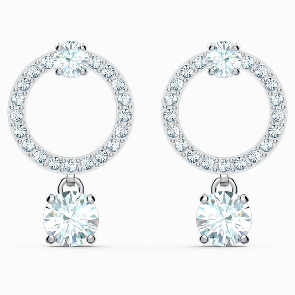 Swarovski White Attract Circle Pierced Earrings