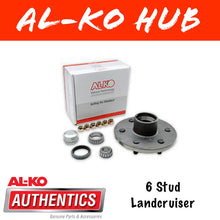 Load image into Gallery viewer, AL-KO 6 Stud Unbraked Hub with Ford Bearings
