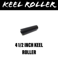 Load image into Gallery viewer, 4 1/2 INCH BLACK RUBBER Flat Bilge Centre Roller