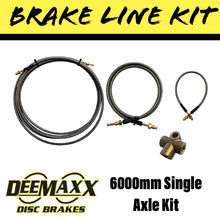 Load image into Gallery viewer, 6000MM S/S FLEXIBLE Brake Line Kit