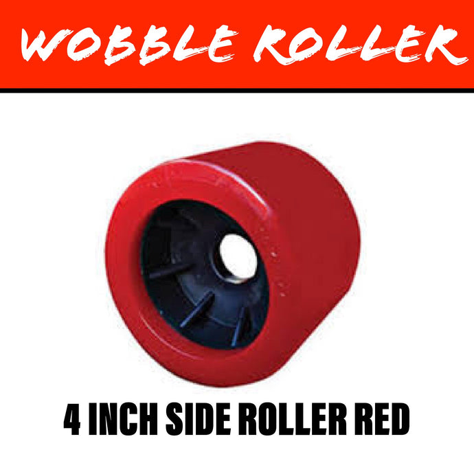 4 INCH RED Wobble Roller