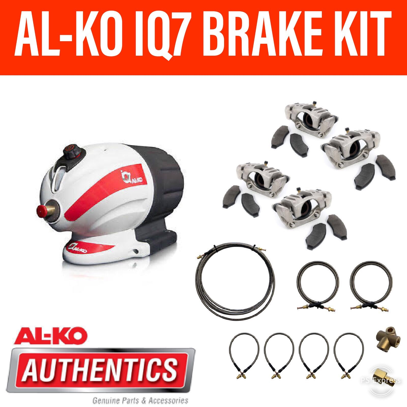 AL-KO IQ7 BRAKE KIT With Stainless Steel Calipers and S/S Brake Lines