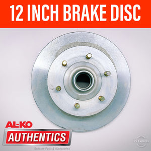 AL-KO 12 INCH 6 STUD BRAKE DISC SUIT FORD/HOLDEN BEARINGS