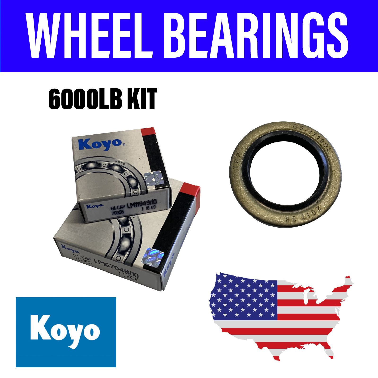 American 6000LB Wheel Bearing Kit