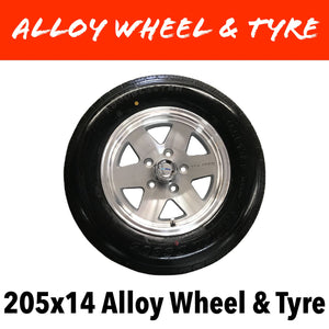 14 INCH ALLOY WHEEL AND LT TYRE (Multiple Sizes)