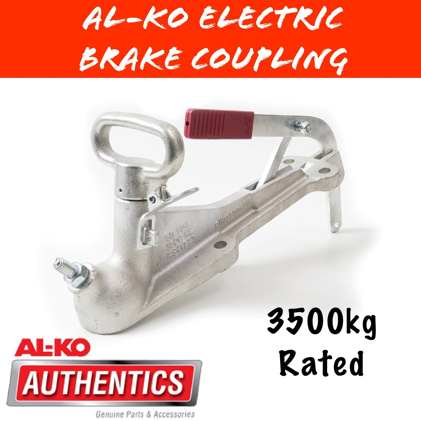 AL-KO 3500KG 50MM FIxed Coupling with Brake Lever