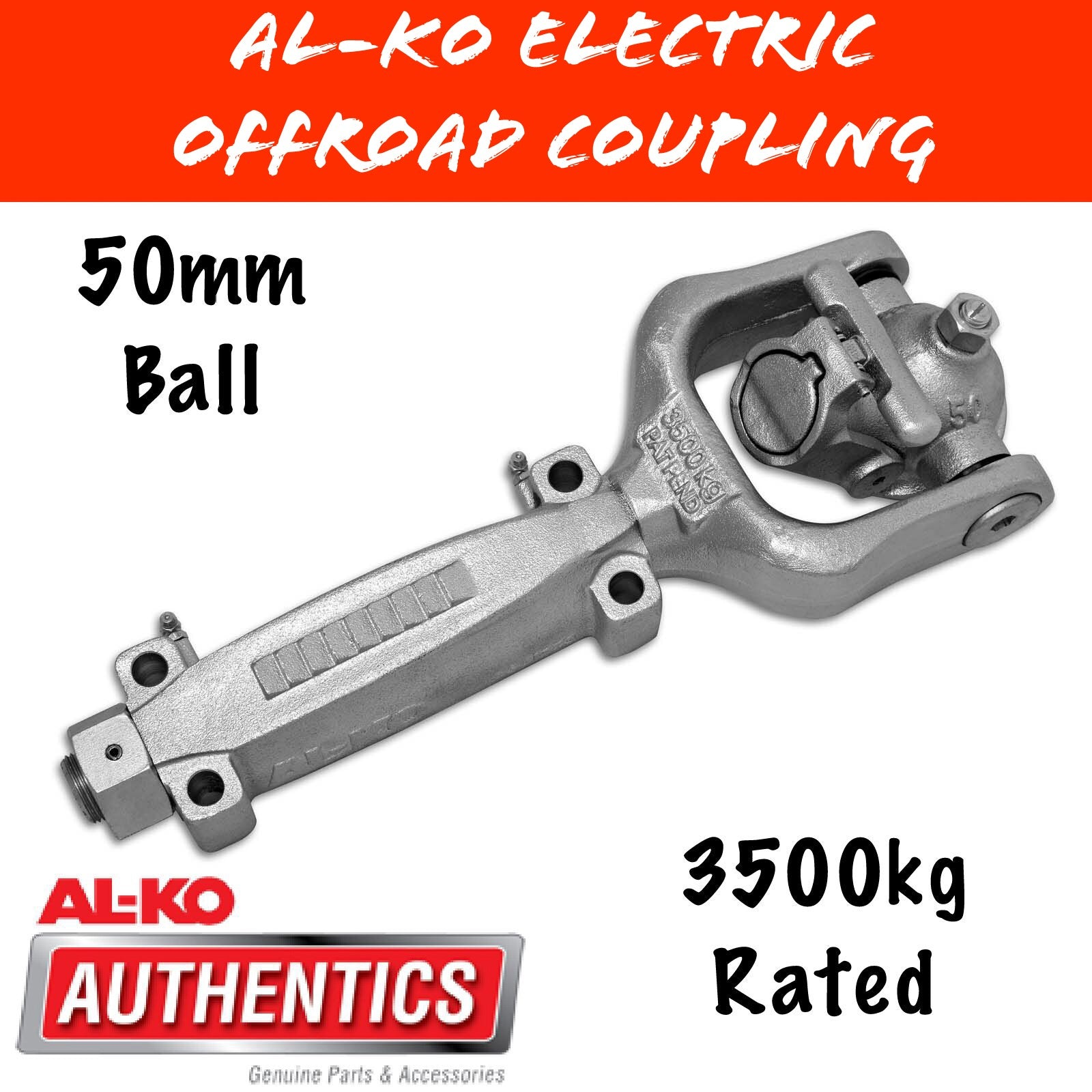 ALKO  OFFROAD 50MM BALL COUPLING 3500KG Rated