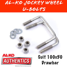 Load image into Gallery viewer, AL-KO 100X50MM Draw Bar U-Bolt Set
